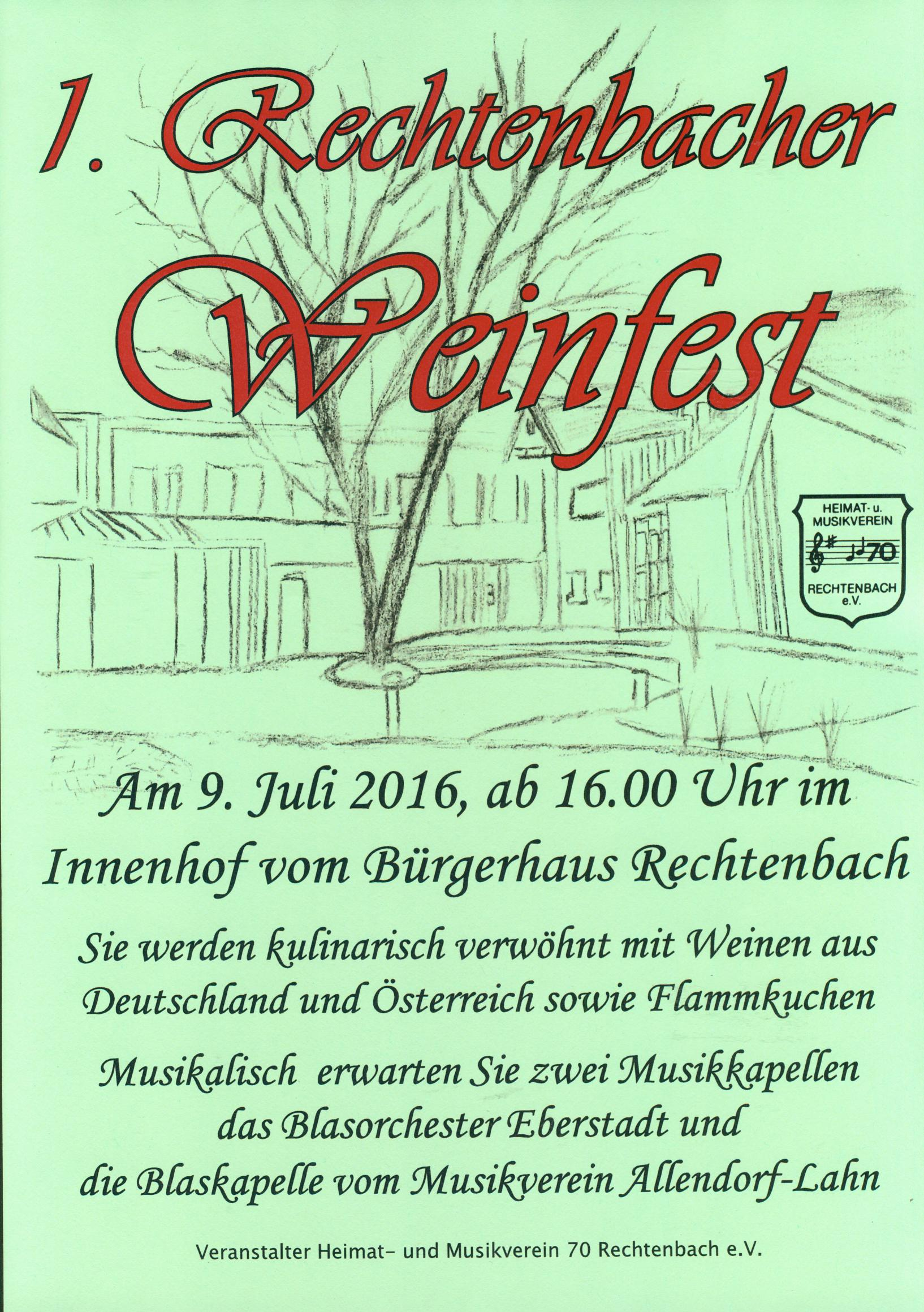 Weinfest 2016 Plakat