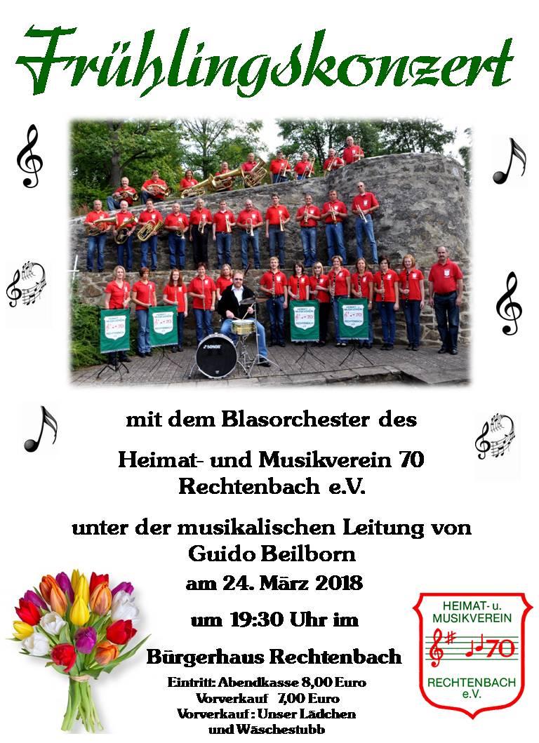 2018 Plakat Frühlingskonzert